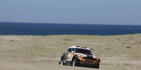 The action is heating up in the 2012 Dakar Rally.