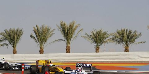 The Formula One race in Bahrain was canceled in 2011 because of civil unrest. This year's race is scheduled for April 22.