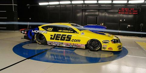 Jeg Coughlin's Avenger blows through testing in the wind tunnel.