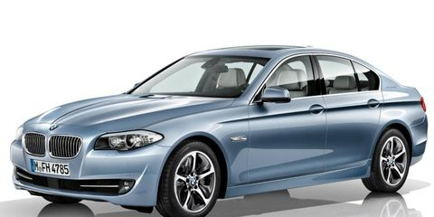 The BMW ActiveHybrid 5 goes on sale in late spring.
