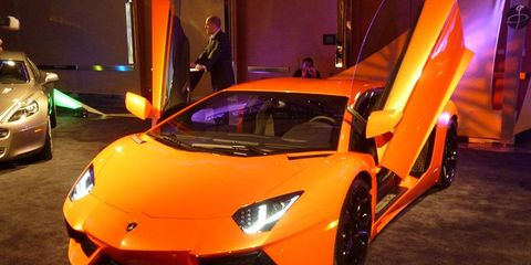 The Lamborghini Aventador was on display at the Gallery event.