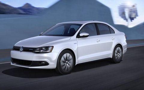 The Jetta Hybrid will be able to go up to 44 mph on electric power alone.