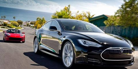 Tesla's third vehicle, the Model X crossover, will follow the Roadster and the Model S, pictured here.