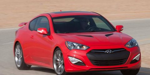The four-cylinder engine in the 2013 Hyundai Genesis coupe makes at least 260 hp.