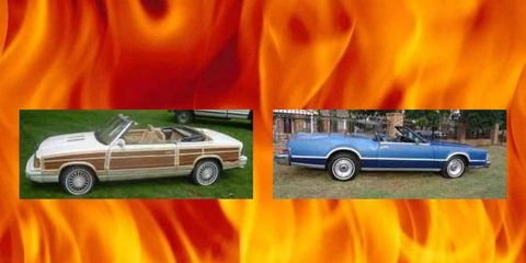Take your pick: a Bill Blass Lincoln or a Mark Cross Chrysler.