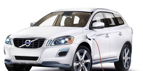 Volvo says the XC60 plug-in hybrid concept has a range of up to 600 miles.