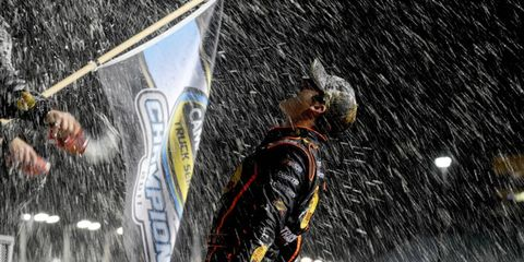 It's Raining Beer // Austin Dillon, the 2012 NASCAR Camping World Truck Series champion, gets a beer shower from his team at Homestead-Miami Speedway on Nov. 18. Photo by: Jared C. Tilton/Getty Images