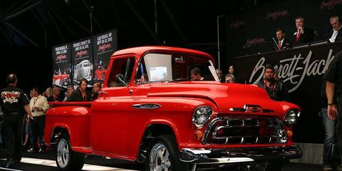 One of several vehicles to cross the auction block at the Barrett-Jackson sale in Scottsdale, Ariz.