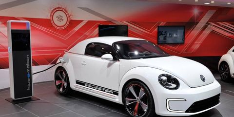 The Volkswagen E-Bugster concept at the Detroit auto show.