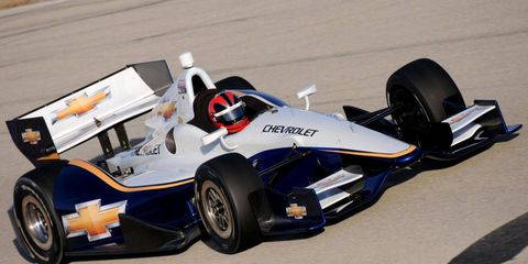 Helio Castroneves partcipated in a test Jan. 16-17 at Sebring (Fla.) International Raceway.