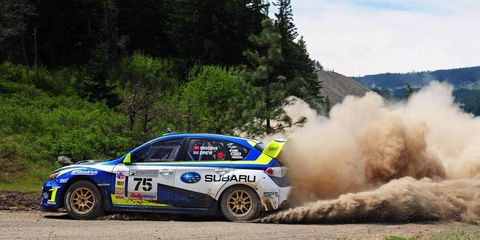 David Higgins, 2011 Rally America national champion, will remain with Subaru as a factory driver in 2012.