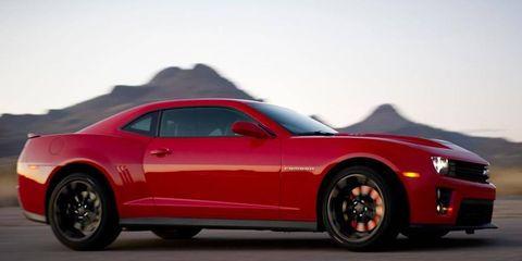 The Chevy Camaro ZL1 packs 580 hp in its supercharged V8.