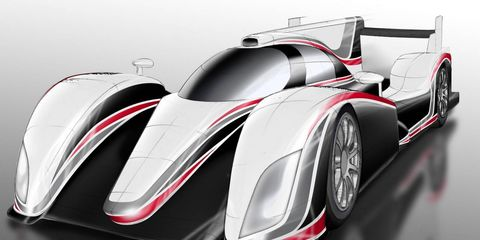 Toyota's new LMP1 prototype tested for this year's running of the 24 Hours of Le Mans. The car, which hasn't even been named outside of Toyota, has been shrouded in secrecy.