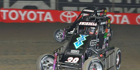 Kevin Swindell, of Germantown, Tenn., beat out 258 other competitors, including 2011 Cup champion Tony Stewart and NASCAR Nationwide Series champion Ricky Stenhouse Jr.