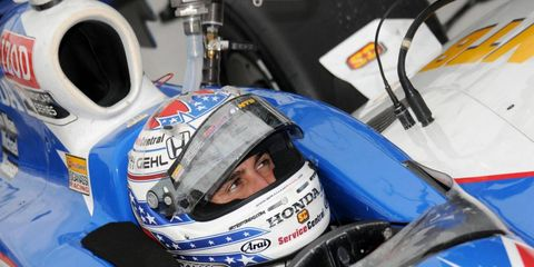 Graham Rahal had the idea of an auction to benefit the family of Dan Wheldon, who was killed at an IndyCar race at Las Vegas on Oct. 16.