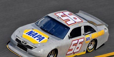 Martin Truex Jr. topped 204 mph this morning during testing at Daytona International Speedway.