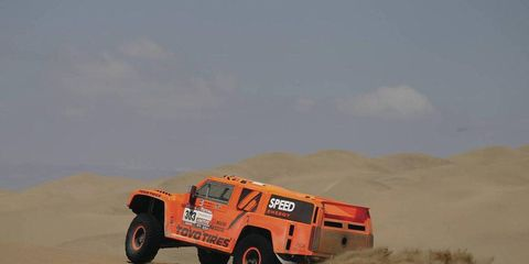 Robby Gordon had a great day at the Dakar Rally, despite racing after a potential disqualification.