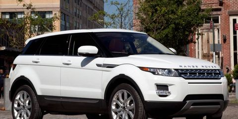 The Land Rover Range Rover Evoque won an award at the Detroit auto show, but you won't find the SUV on the show floor.