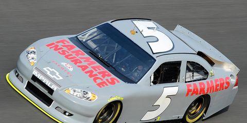 Kasey Kahne ran his first practice runs for Hendrick Motorsports at Daytona International Speedway on Thursday.