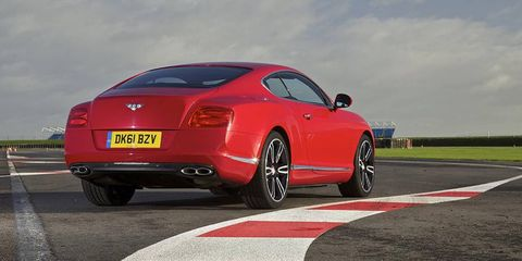 The Bentley Continental V8 debuted at the Detroit auto show.