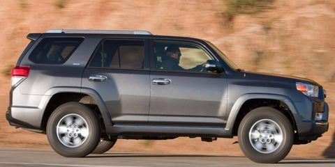 The V6 in the 2011 Toyota 4Runner SR5 is rated at 270 hp.