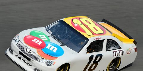 Kyle Busch was among the leaders on the speed chart during the first day of testing at Daytona International Speedway.