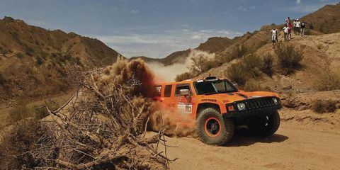 Robby Gordon seems to have fallen out of contention in the Dakar Rally.