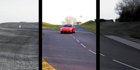 Porsche driver Gordon Robertson flogs the 911 while talking technology.