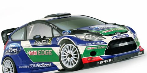 The Ford Fiesta RS World Rally car unveiled on Thursday will race in the 2012 FIA World Rally Championship.