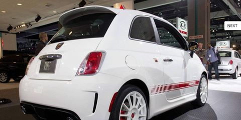 The U.S.-spec Fiat 500 Abarth debuted at the 2011 Los Angeles auto show.