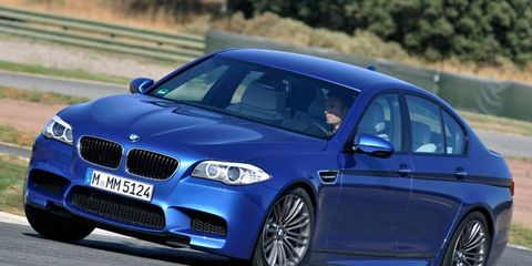 The 2013 BMW M5 will be offered with a six-speed manual transmission.