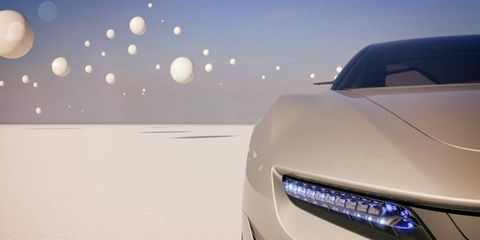 A hint of the Pininfarina Cambiano concept sedan that is to be displayed at the Geneva motor show in March.