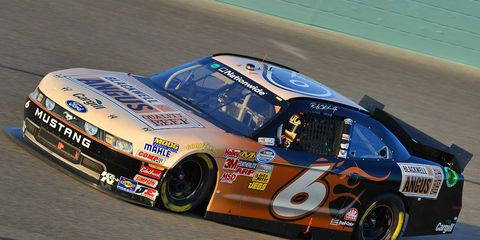 Ricky Stenhouse Jr. races around the track last year. He was recently awarded the Gorsline Scholarship.