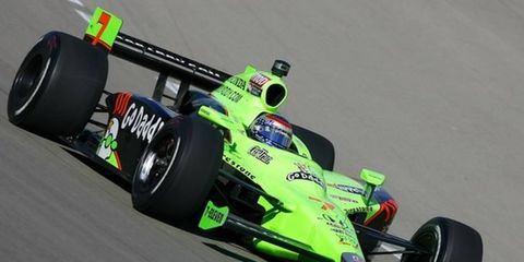 James Hinchcliffe, the 2011 Izod IndyCar Series rookie of the year, will be driving the No. 27 GoDaddy-sponsored car for Andretti Autosport this year. Danica Patrick, shown, drove the car in 2011.