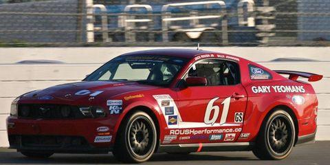 The Ford Mustang Boss 302R driven by Jack Roush Jr. and Billy Johnson won Friday's race at Daytona.