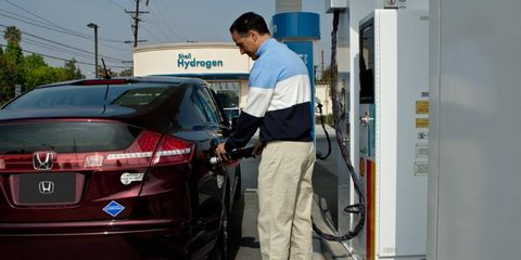 California officials want to see more hydrogen fuel-cell cars on the road in the future.