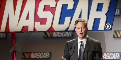 NASCAR CEO Brian France says he doesn't mind objective criticism from owners, drivers or crewmen.