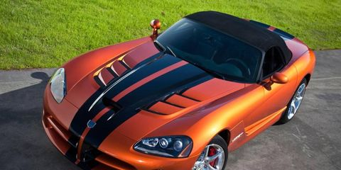 Production of the Dodge Viper was stopped in 2010.
