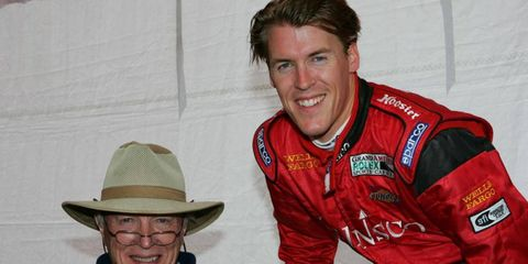 Alex Gurney, seen here with his father, Dan, in 2005 at Mazda Raceway Laguna Seca, finished 15th in the 2011 Daytona 24-hour race.
