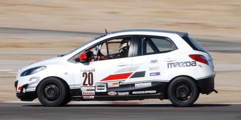 The Mazda 2 prepped for B-Spec racing.