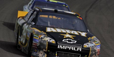 """Ryan Newman, driving the No. 39 Army car, is one of several NASCAR drivers who have been """"secretly"""" fined in recent history."""