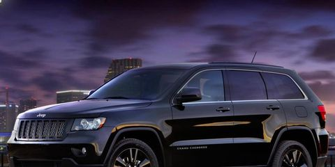 The blacked-out Jeep Grand Cherokee concept will likely go on sale this spring.