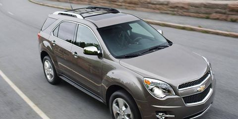 The V6 in the 2012 Chevrolet Equinox is rated at 264 hp.
