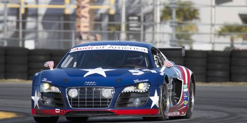 The Audi R8 Grand-Am will make its debut at the Rolex 24 this weekend in Daytona. The race marks the beginning of the Grand-Am road racing season.