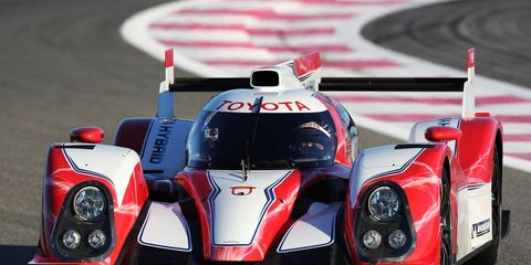 Toyota announced its revised two-car program on the launch of its all-new gasoline-electric LMP1 hybrid at Circuit Paul Ricard in France on Tuesday.