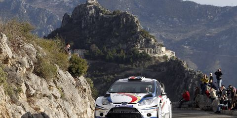 Francois Delecour speeds around Monte Carlo. The famed driver is hoping to do a few more rally events with his current car.