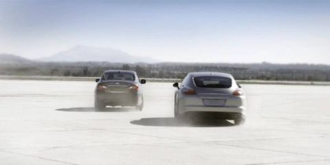 Infiniti put its hybrid up against the best from Germany