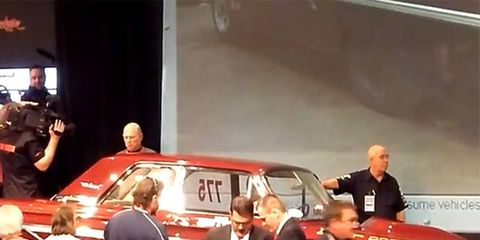 Cars crossing the block at the 2012 Scottsdale auctions included this Ford Thunderbolt.