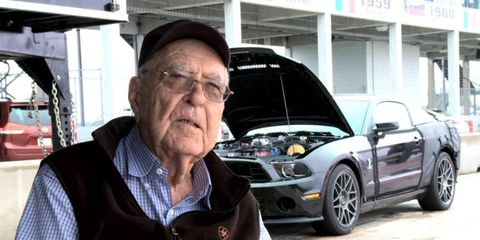 Shelby helped test the GT500 at Sebring International Raceway