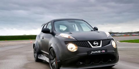 The Nissan Juke-R took on Germany's and Italy's best in Dubai